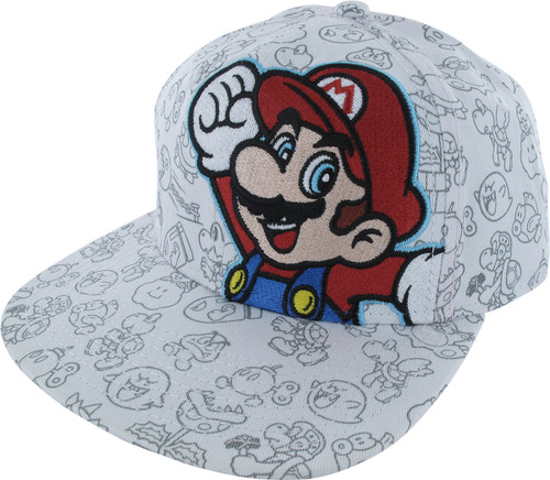 Mario Bad Guys Outline Snapback Youth Hat