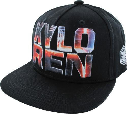 Star Wars Kylo Ren Embroidered Snapback Hat