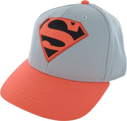 Superman Embroidered Logo Mesh Snapback Hat