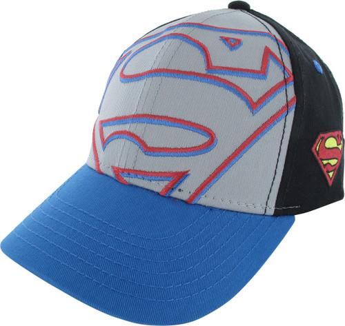 Superman Oversized Logo Snapback Youth Hat