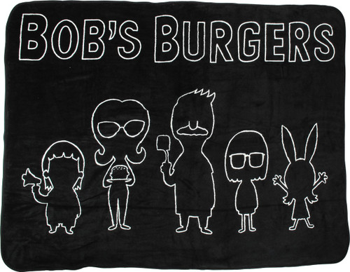Bob's Burgers Group Line Silhouette Fleece Blanket