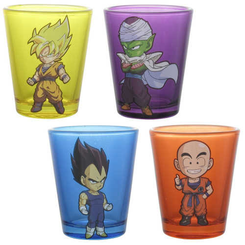 Dragon Ball Z 4 Character Tinted Shot Glass Set