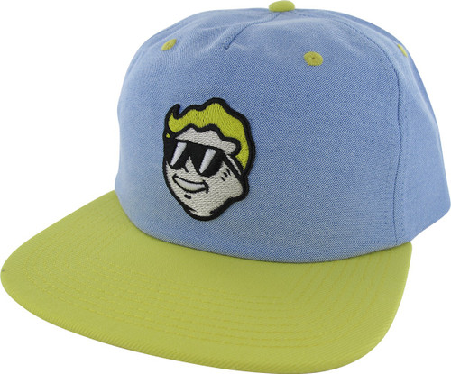 Fallout Vault Boy Face in Shades Snapback Hat