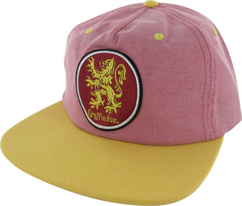 Harry Potter Gryffindor Circle Oxford Snapback Hat hat-harry-potter -gryff-circle-snap a6d0577e7b42