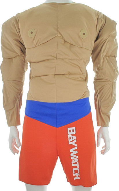 Baywatch Muscle Man Lifeguard Deluxe Adult Costume