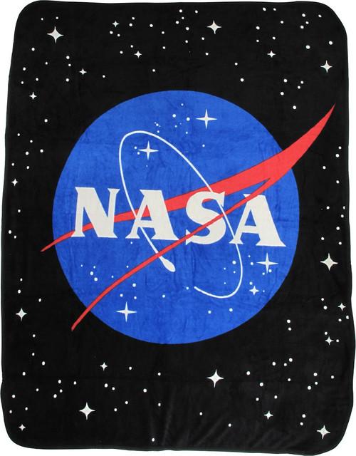 NASA Logo in Space Fleece Blanket