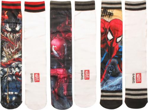 Spiderman Characters Sublimated 3 Pair Socks Set