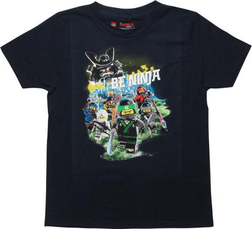 Lego Ninjago Movie Be Ninja Navy Youth T-Shirt