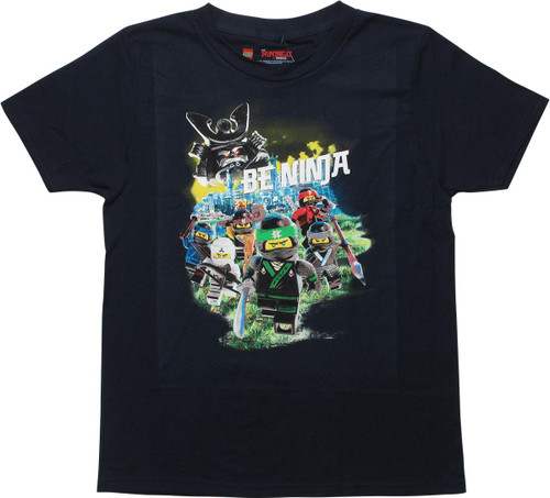 Lego Ninjago Movie Be Ninja Navy Youth T-Shirt