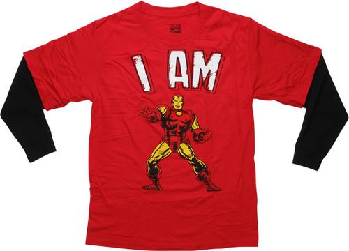I Am Iron Man Zappar Long Sleeves Youth T-Shirt