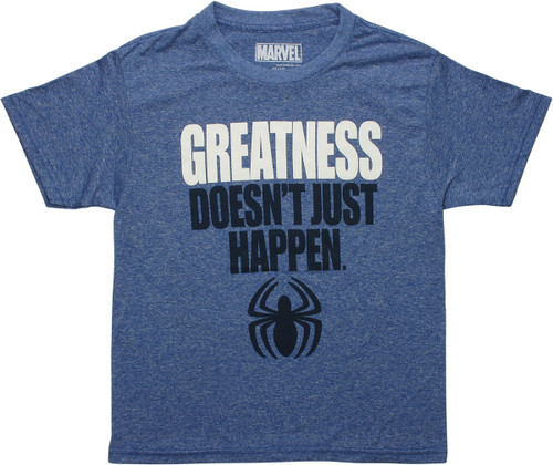 Spiderman Greatness Just Happen Logo Youth T-Shirt