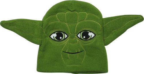 Star Wars Yoda Face Youth Beanie