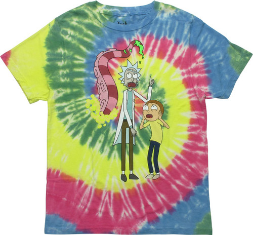 Rick and Morty Tentacles Womens Boyfriend T-Shirt