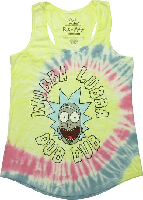 Rick and Morty Wubba Lubba TD Juniors Tank Top