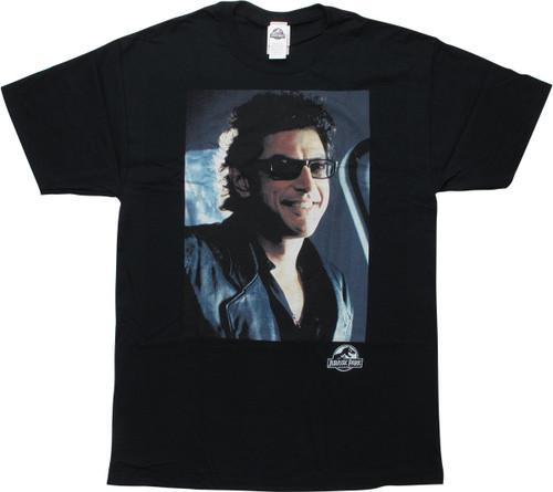 Jurassic Park Dr Malcom Black T-Shirt
