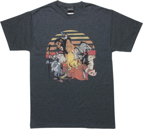 Lion King Group Heathered Charcoal T-Shirt