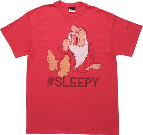Snow White Sleepy Hashtag Sleep T-Shirt