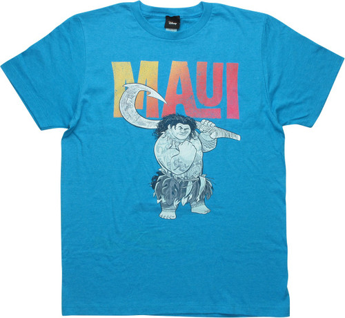 Moana Maui Heathered Turquoise T-Shirt