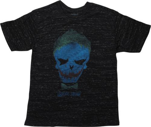 Suicide Squad Joker Skull Heathered Black T-Shirt