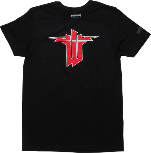 Wolfenstein II New Colossus Logo Black T-Shirt