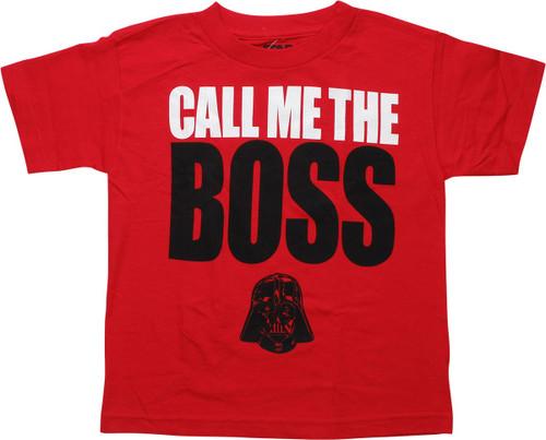 Star Wars Vader Call Me the Boss Youth T-Shirt