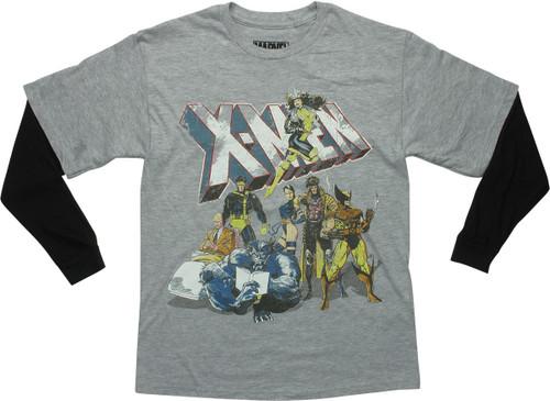 X Men Originals Distressed LS Youth T-Shirt