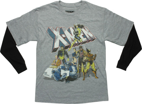 X Men Originals Distressed LS Youth T-Shirt
