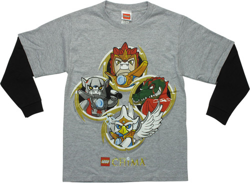 Lego Legends of Chima Four Rings LS Youth T-Shirt