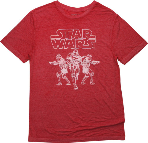 Star Wars Stormtroopers Heathered Red T-Shirt