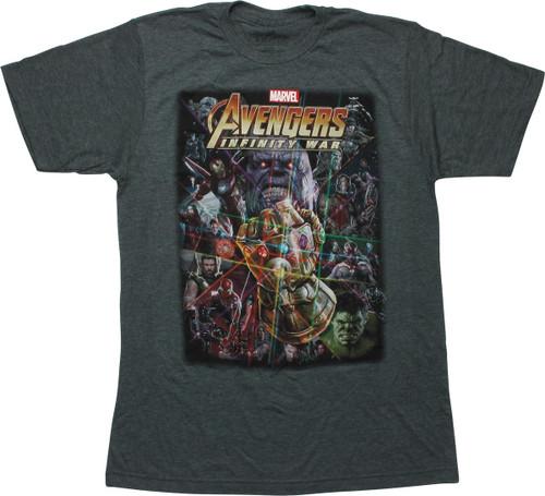 Avengers Infinity War Poster Heather T-Shirt