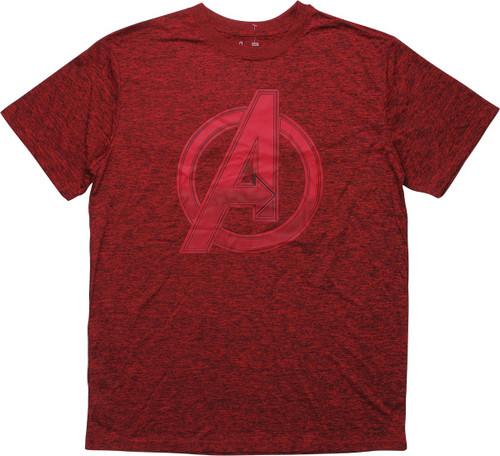 Avengers Assemble Logo Heathered Dark Red T-Shirt