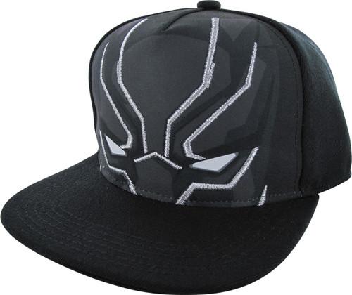 Black Panther Mask Stare Snapback Hat