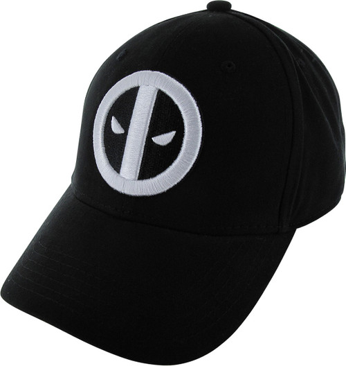 Deadpool White Logo Merc Snapback Hat
