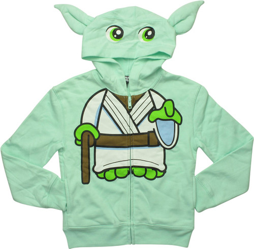 Star Wars Yoda Mint Green Girls Youth Hoodie