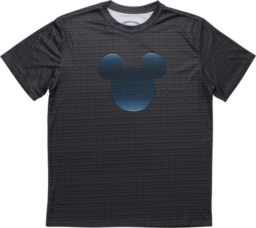 Mickey Mouse Ear Logo All Over Print Logos T-Shirt