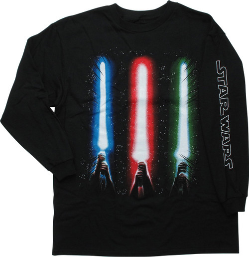 Star Wars Lightsaber Trio Glow LS Youth T-Shirt