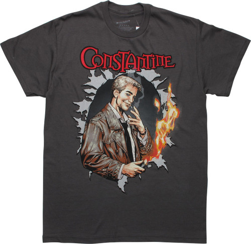 Constantine Justice League Dark Cover T-Shirt