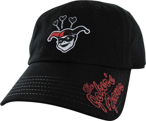 Harley Quinn Hearts Joker's Favor Buckle Hat