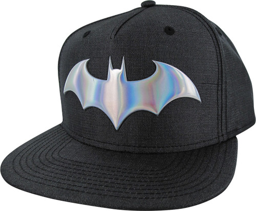 Batman Iridescent Logo Woven Fabric Snapback Hat