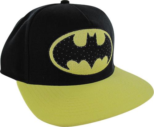 Batman Logo Fiber Optic Lights Snapback Hat