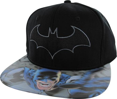 Batman Logo 3D Lenticular Bill Snapback Hat