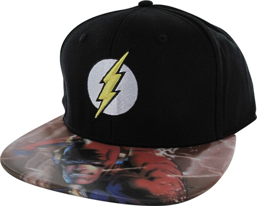 Flash Logo Lenticular Bill Snapback Hat