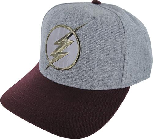 Flash TV Logo Chrome Weld Snapback Hat