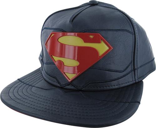 Superman Rebirth Suit Up Metal Badge Snapback Hat