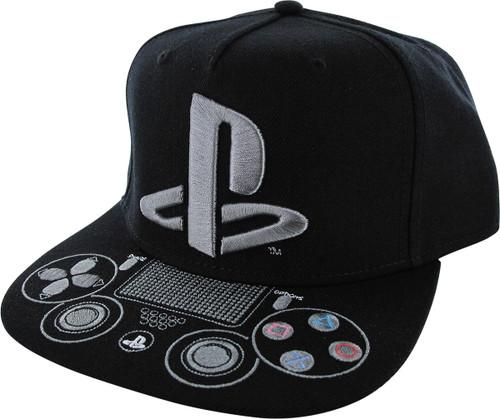 Playstation Logo Controller Bill Snapback Hat