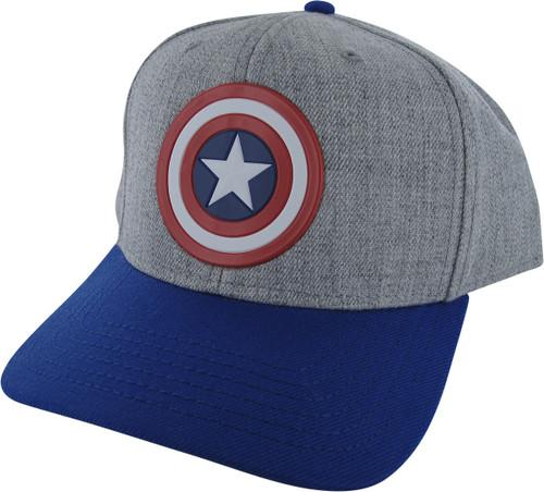 Captain America Shield Logo Snapback Hat
