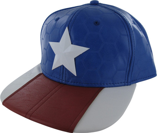 Captain America Suit Up Metal Badge Snapback Hat