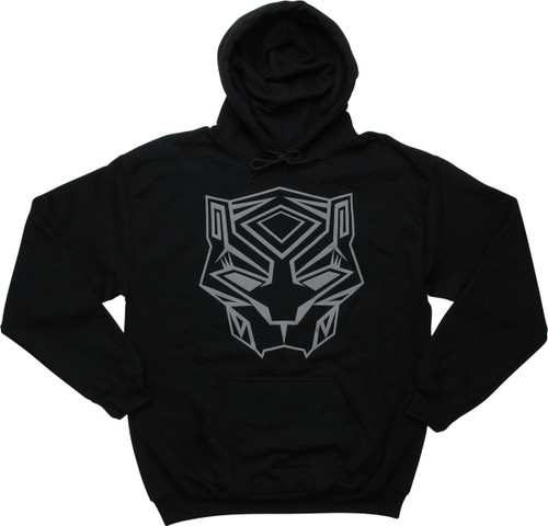 Black Panther Movie Mask Icon Pullover Hoodie