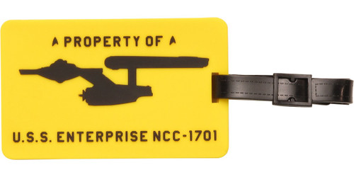 Star Trek Property of USS Enterprise Luggage Tag