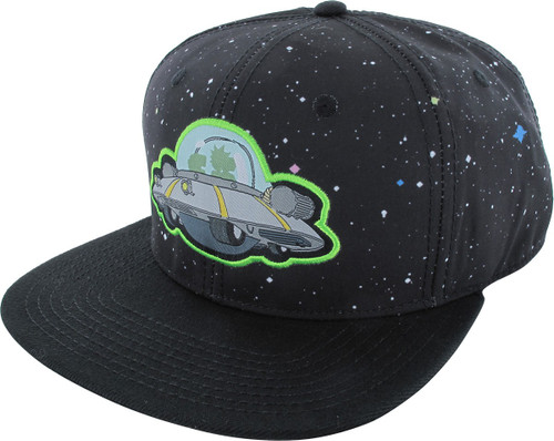 Rick and Morty Spaceship Snapback Hat